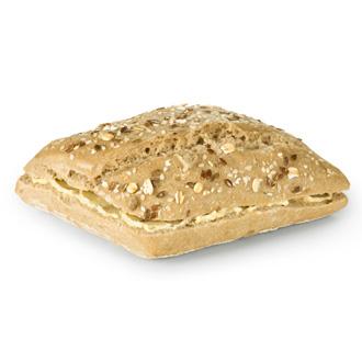 Pão de sementes com manteiga