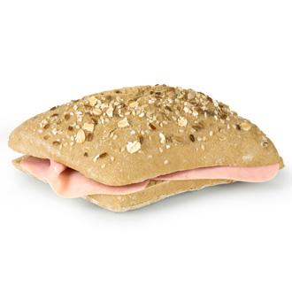 Pão de sementes com fiambre