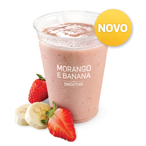 Iced Fruit Smoothie Morango e Banana (400ml)