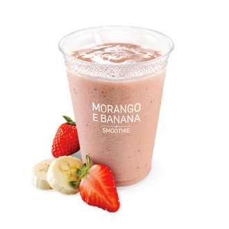 Iced Fruit Smoothie Morango / Banana (400 mL)